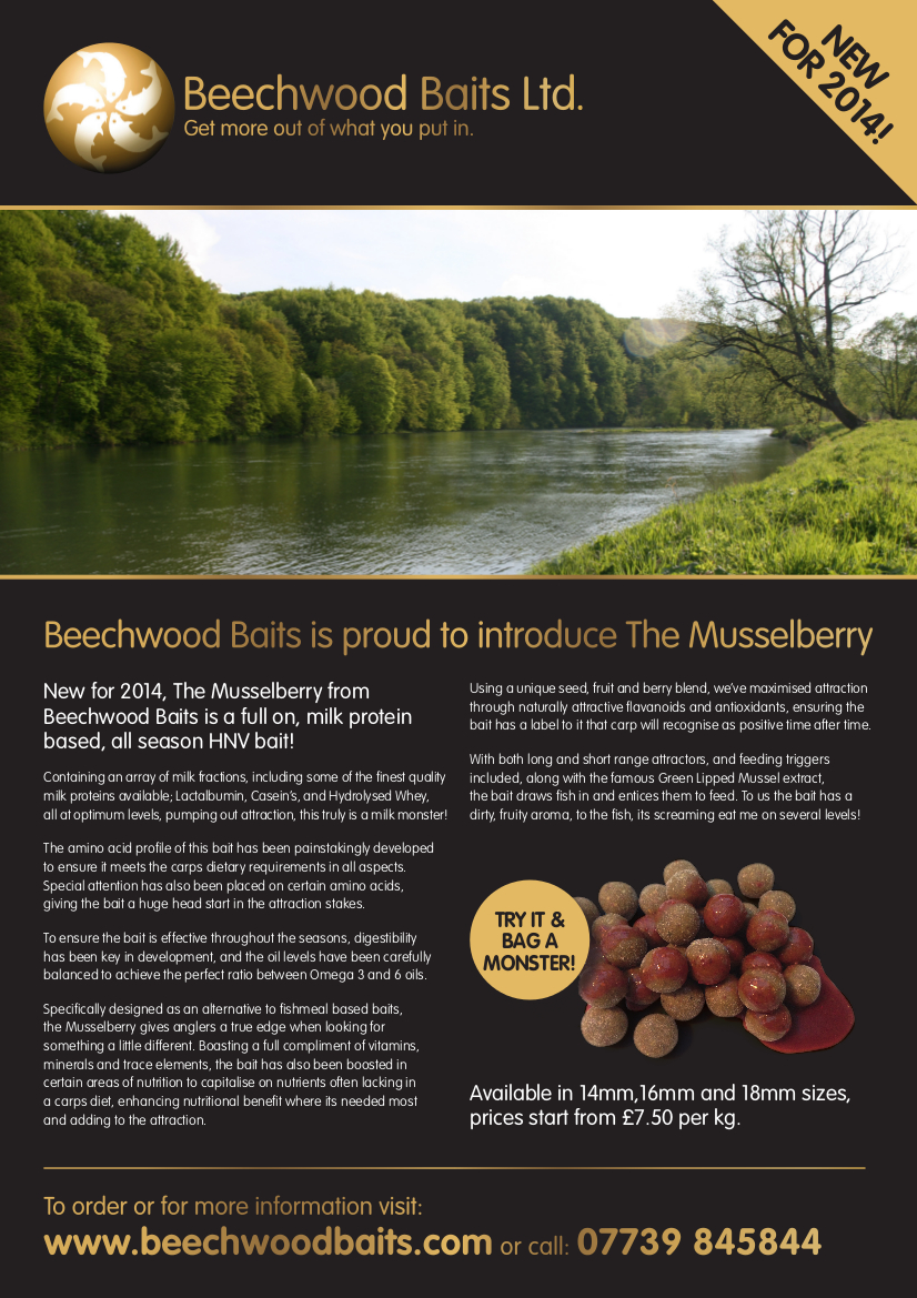 beechwood baits home the musselberry flyer